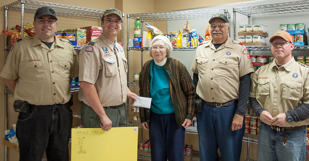 Eagle Scout Project Supports New Carlisle Food Pantry